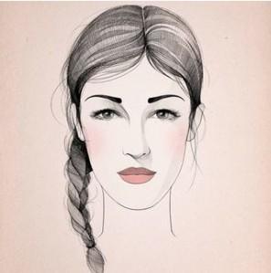 cejas rostro redondo