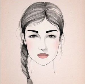 cejas rostro tringular